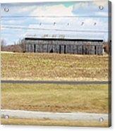 Gray Barn In A Cornfield Acrylic Print