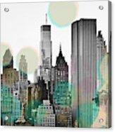 Gray City Beams Acrylic Print