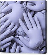 Gray Hands Acrylic Print