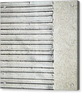 Gray Line Concrete Wal Acrylic Print