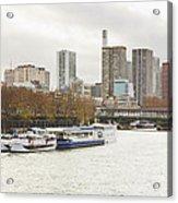 Gray Side Of Paris Acrylic Print