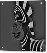 Gray Zebra Acrylic Print