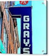 Gray's Rx Acrylic Print by Anthony Jones