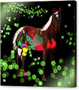 Grazing In The Grass - Featured In Visions Of The Night Group Acrylic Print