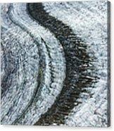 Great Aletsch Glacier Moraine Acrylic Print