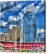Great American Ballpark Acrylic Print by Mel Steinhauer