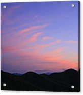 Great Balsam Mountains At Dusk - Blue Ridge Parkway Acrylic Print