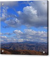 Great Balsam Mountains From Waterrock Knob Acrylic Print