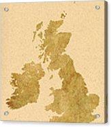 Great Britain Map Acrylic Print