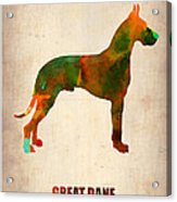 Great Dane Poster Acrylic Print