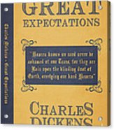Great Expectations By Charles Dickens Book Cover Poster Art 1 Acrylic Print