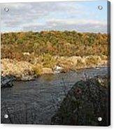 Great Falls Down River Fall Acrylic Print