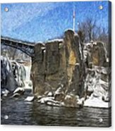 Great Falls Painted Acrylic Print