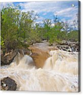 Great Falls White Water #5 Acrylic Print