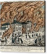 Great Fire Of New York, 1776 Acrylic Print by Science Photo Library