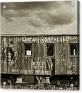 Great Northern Caboose Acrylic Print