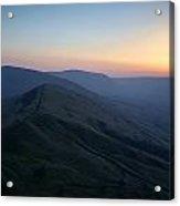 Great Ridge Sunset Acrylic Print
