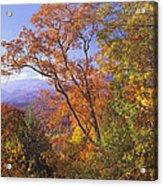 Great Smoky Mts From Blue Ridge Pkwy Acrylic Print