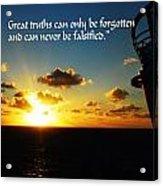 Great Truths Acrylic Print