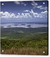Great View On Top Of Cadilac Mountain Acrylic Print