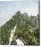 Great Wall 0033 - Light Colored Pencils Sl Acrylic Print