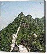 Great Wall 0033 - Pastel Chalk 2 Sl Acrylic Print