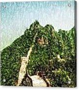 Great Wall 0033 - Pastel Pencil 1 Sl Acrylic Print