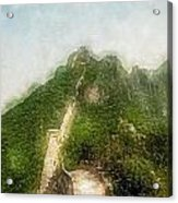 Great Wall 0033 - Traveling Pigments Sl Acrylic Print