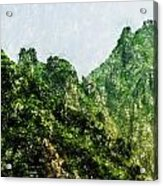 Great Wall 0043 - Pastel Pencils Hp Acrylic Print