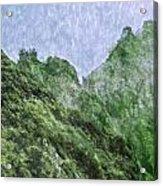 Great Wall 0043 -  Watercolor 2 Sl Acrylic Print