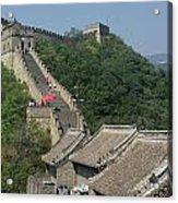 Great Wall Red Umbrella Acrylic Print