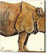 Greated One Horned Rhinoceros Acrylic Print