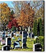 Greece Fall Cemetery Acrylic Print