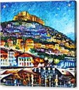 Greece Lesbos Island 2 Acrylic Print by Leonid Afremov