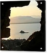 Greece-nafplio Bourtzi From Castle Acrylic Print