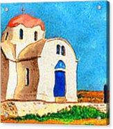 Greek Church 4a Acrylic Print