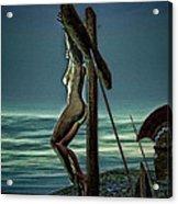 Greek Crucifixion Scene II Acrylic Print