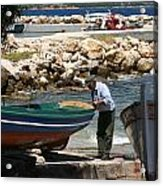 Greek Fisherman Acrylic Print