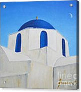 Greek Island Church  Acrylic Print