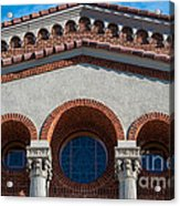 Greek Orthodox Church Arches Acrylic Print