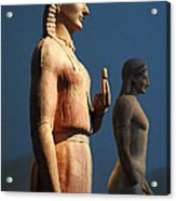 Greek Sculpture Athens 1 Acrylic Print by Bob Christopher