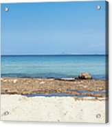Greek Sea Acrylic Print