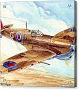 Greek Squadron Spitfire Acrylic Print
