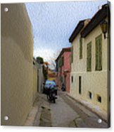 Greek Street Acrylic Print