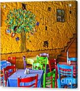 Greek Taverna Acrylic Print by Eleni Mac Synodinos