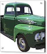 Green 1951 Ford F-1 Pick Up Truck Illustration  Acrylic Print