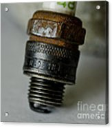 Green 48 Spark Plug Acrylic Print