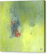 Green Abstract Acrylic Print by Andrea Friedell