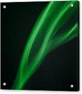 Green Smoke Abstract Acrylic Print