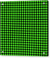 Green And Black Checkered Pattern Cloth Background Acrylic Print
